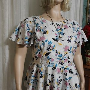 Lane Bryant Asymmetrical Floral Top